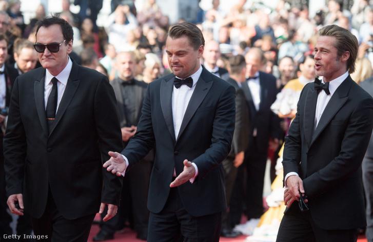 Quentin Tarantino, Brad Pitt és Leonardo DiCaprio