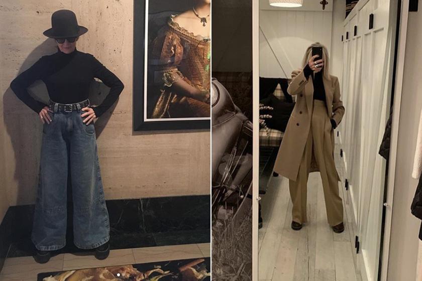 Legújabb kedvencei a bő nadrágok, főleg a palazzo fazonok, melyek közül szintén olyanokat választ, amelyek karcsúsítják. Modern, divatos és határozott külsőt kölcsönöznek neki ezek az összeállítások.