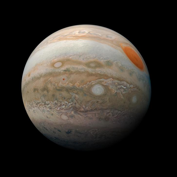 A Juno felvétele a Jupiterről