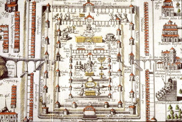 A Salamon-templom ábrázolása 1584-ből