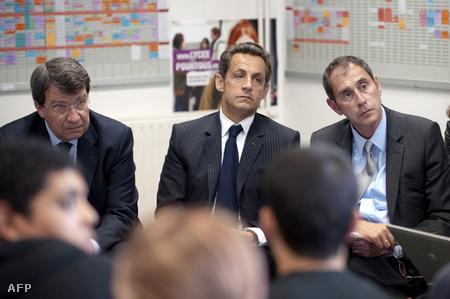 Sarkozy  és Descoings 2009-ben az egyetemen