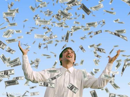 stockfresh 368885 man-catch-falling-dollars sizeM