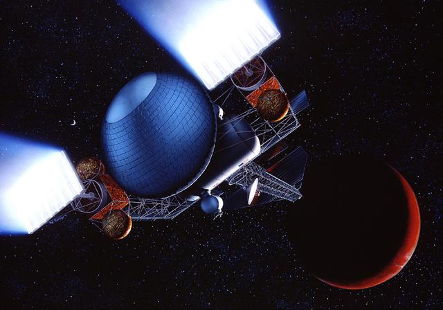 Pár évtizeddel ezelőtt még így képzelték az ionhajtóműves űrutazást