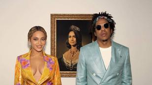 Meghan Markle nagyon meglepődött, amikor Beyonce és Jay-Z az őt ábrázoló festmény előtt pózolt
