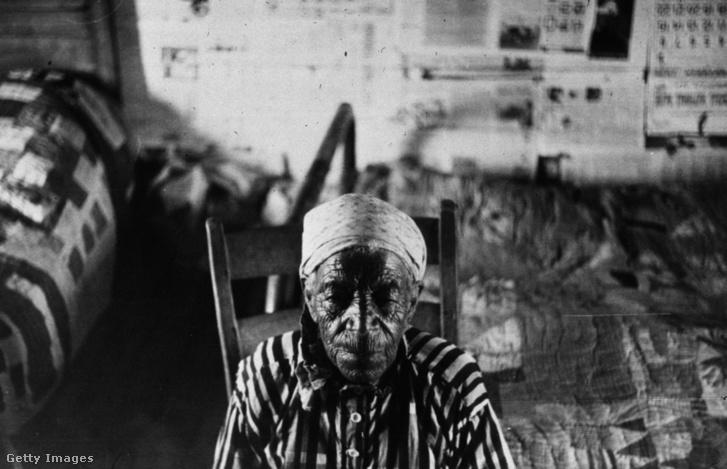 Egy idős alabamai nő, aki még rabszolgának született (1941-es felvétel)