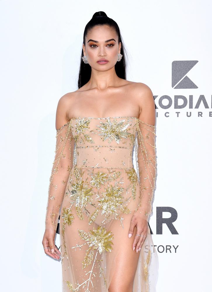 A 28 éves ausztrál Shanina Shaik áttetsző ruhájában úgy nézett ki, mintha nem is viselt volna semmit a modell