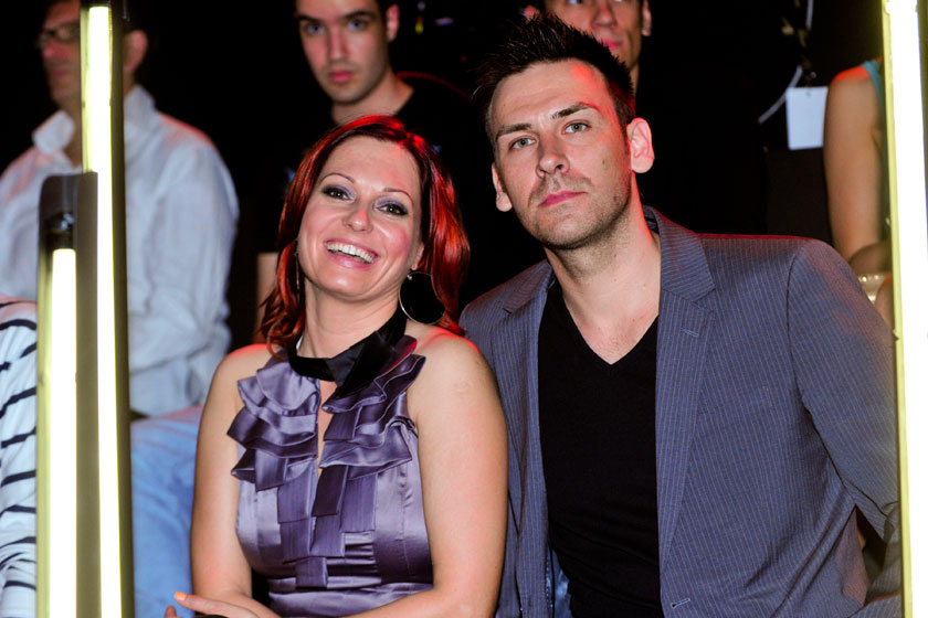 Gaál Noémi és Maloveczky Miklós 2012 tavaszán a Megasztár 6 közönségének soraiban.
