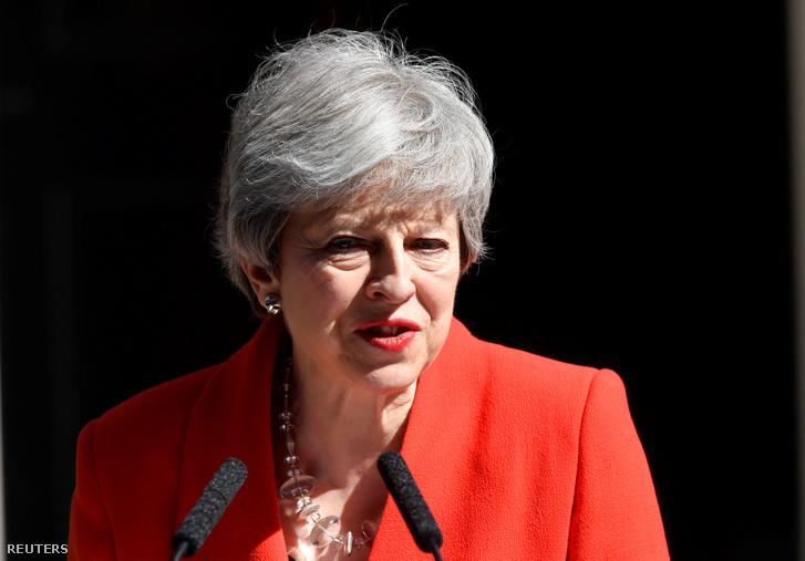 Theresa May bejelentette lemondását Londonban 2019. május 24-én