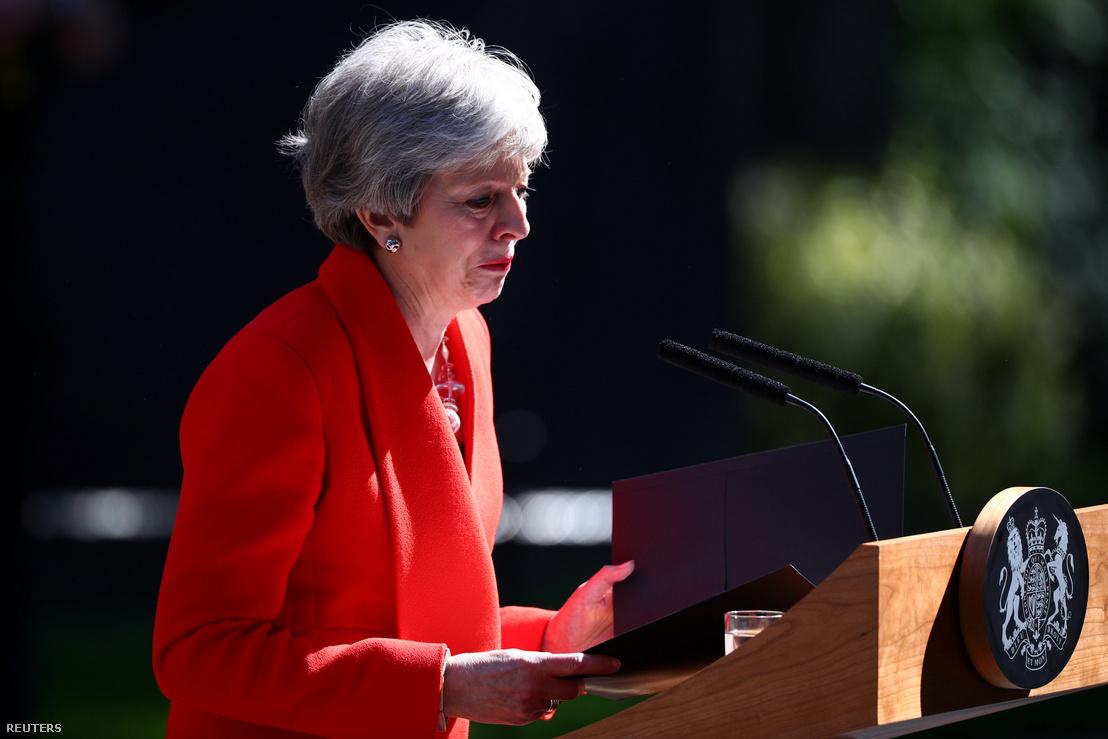 Theresa May beszéde közben 2019. május 24-én
