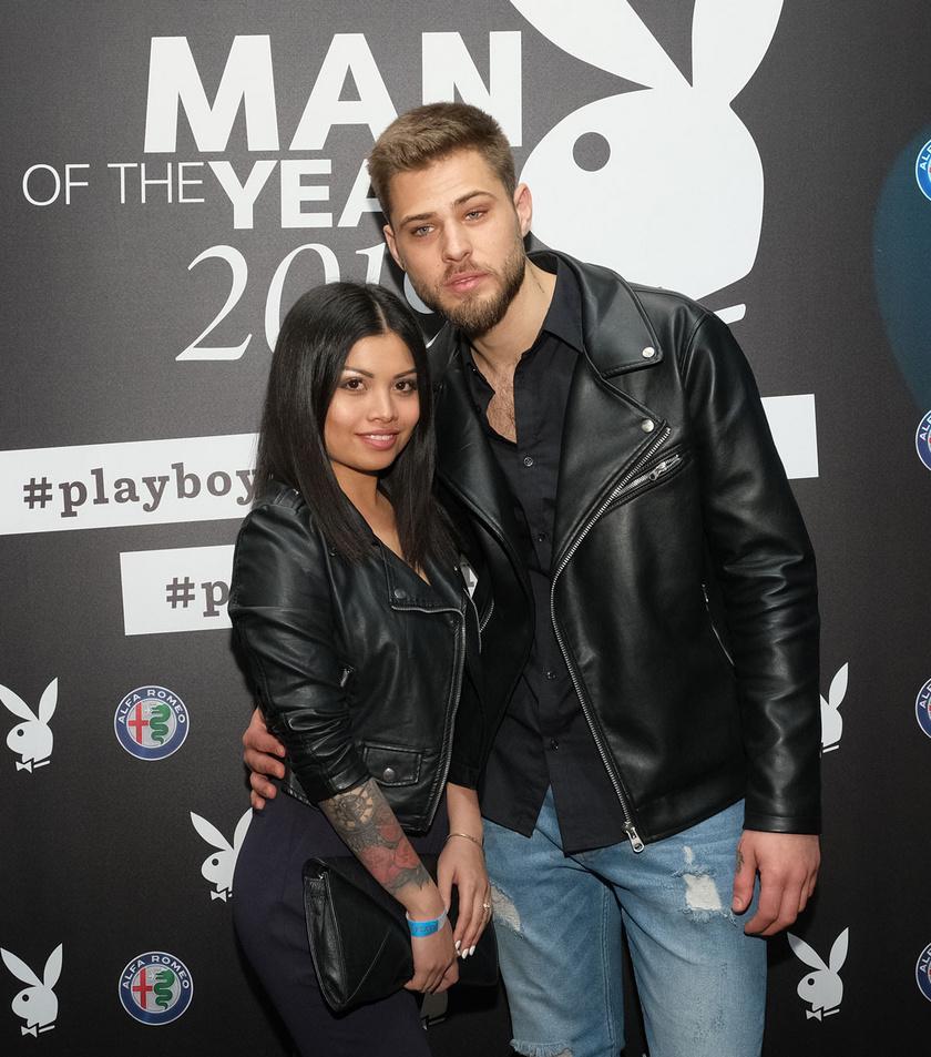 Pribelszki Norbert és menyasszonya, Maja az áprilisi Playboy-gálán.