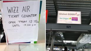 50 embert szívat a Wizzair Frankfurtban: kisebb gépet küldtek a Budapestre tartó emberekért