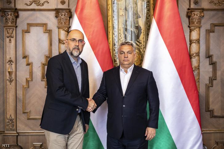 Orbán Viktor miniszterelnök (j) és Kelemen Hunor a Romániai Magyar Demokrata Szövetség (RMDSZ) elnökének találkozója az Országházban, 2018. október 29-én.
