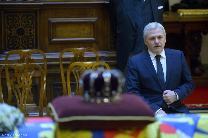 Liviu Dragnea, a PSD vezetője I. Miklós román király temetésén, 2017. december 13-án.