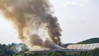 500 négyzetméteren égett a nagykanizsai hulladéklerakó