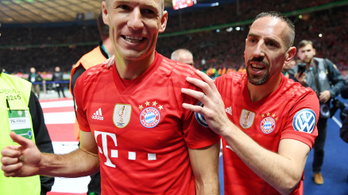 Robben és Ribéry kupagyőzelemmel búcsúzott a Bayerntől