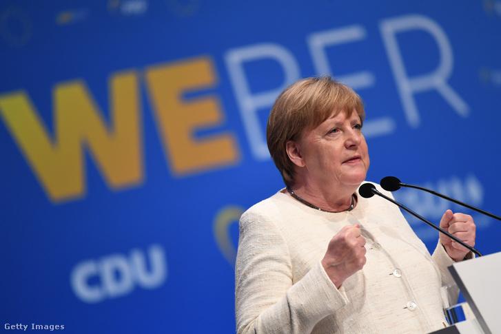 Angela Merkel a CDU/CSU közös kampányzáróján