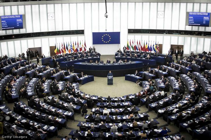 Az európai parlament ülése Strasbourgban