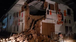Nyolcas erősségű földrengés volt Peruban
