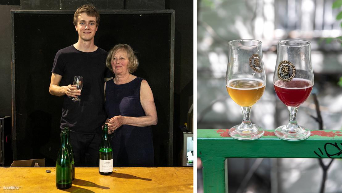 Tommie Sjef édesanyjával és a két szombati söre