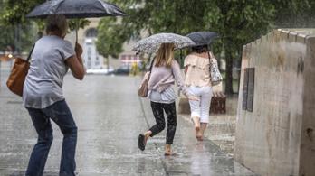 Újabb esőzés érkezik hétfőn