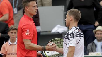 Öt szett után esett ki a Garrosról Fucsovics