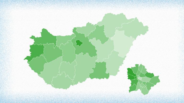 A klasszikusan fideszes területek húzzák fel a részvételi adatokat
