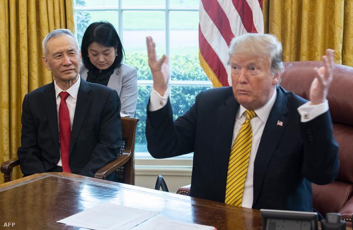 2019. április 4.: Donald Trump kereskedelmi tárgyalások alkalmával fogadta Liu He miniszterelnök-helyettest