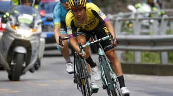 Pisiszünet miatt is került bajba a Giro-favorit