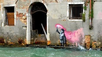 Újabb Banksy-műre derült fény Velencében