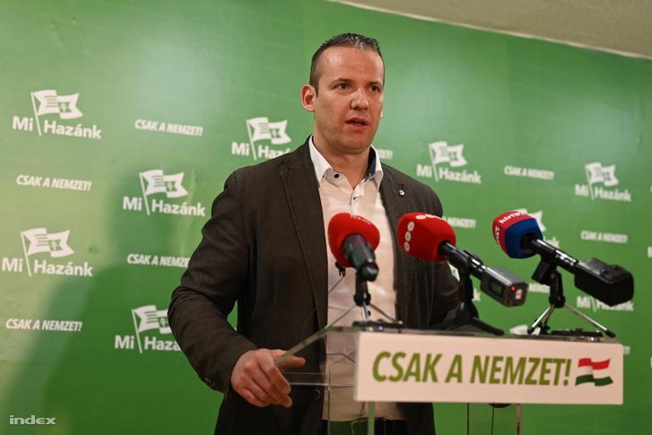 Toroczkai László a Mi Hazánk Mozgalom eredményváró rendezvényén 2019. május 26-án