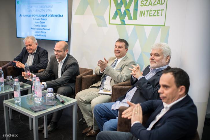 Závecz Tibor, Mráz Ágoston Sámuel, Kiszelly Zoltán, Horn Gábor, G. Fodor Gábor