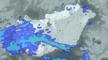 Megérkezett a mediterrán ciklon, sok esőt hoz