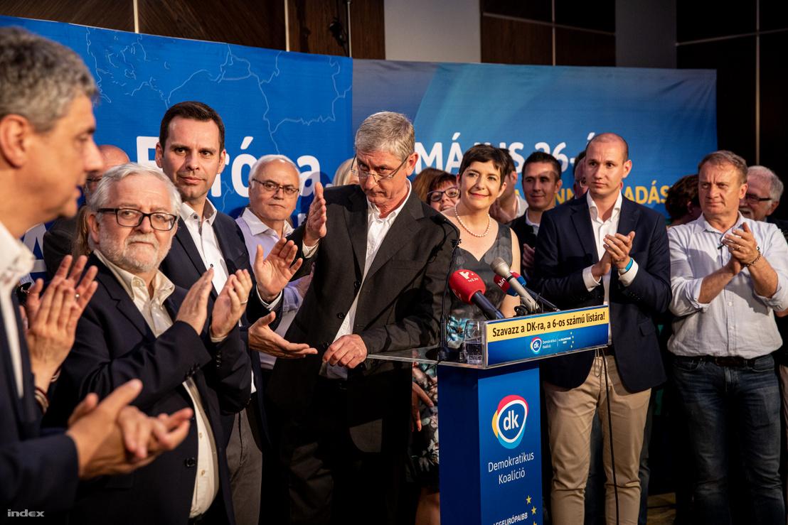Gyurcsány Ferenc a DK eredményváró eseményén 2019. május 26-án