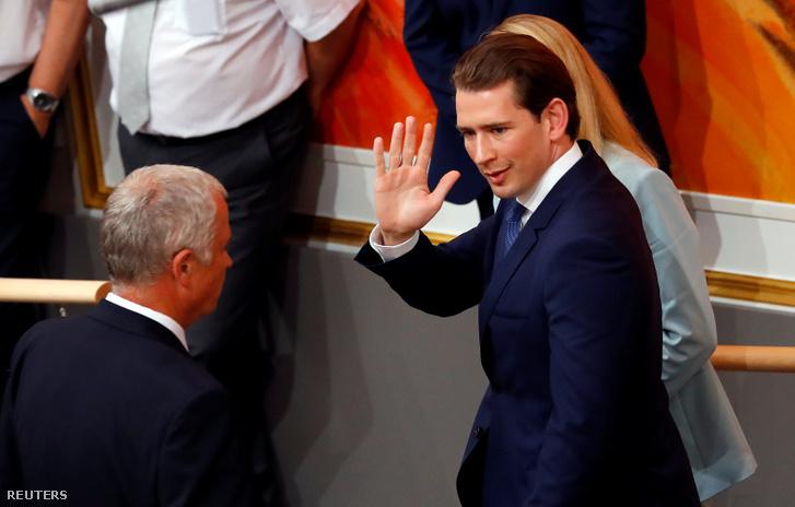 Sebastian Kurz az osztrák Parlamentben 2019. május 27-én.