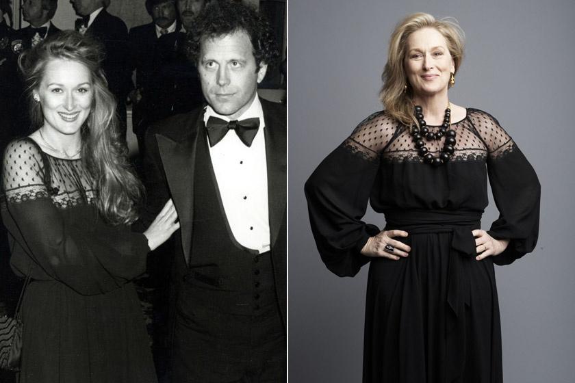 Meryl Streep 1979-ben az Oscaron és 2009-ben a BAFTA-díjátadón. Hihetetlen, hogy megőrizte ezt a ruhát - ráadásul jól is állt neki!