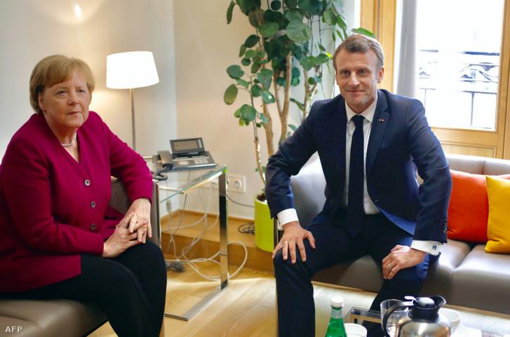 Angela Merkel és Emmanuel Macron 2019. május 28-án