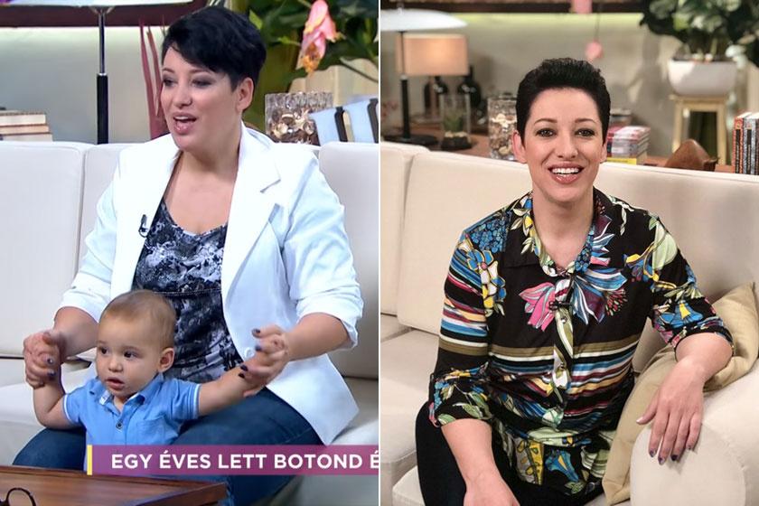 A bal oldali felvétel 2017 októberében, a jobb oldali pedig ma készült Baby Gabiról.