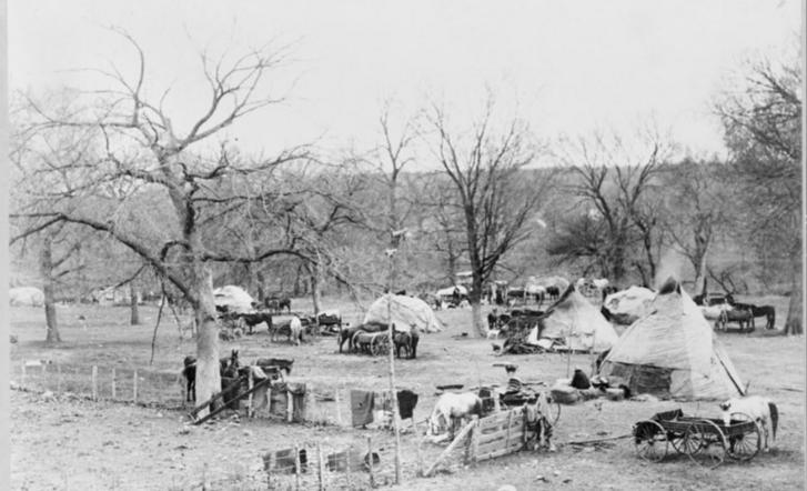 Oklahomai oszázs tábor