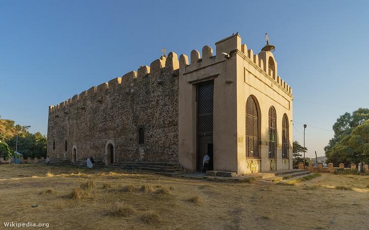 A Sioni Miasszonyunk Mária templom az etiópiai Axumban