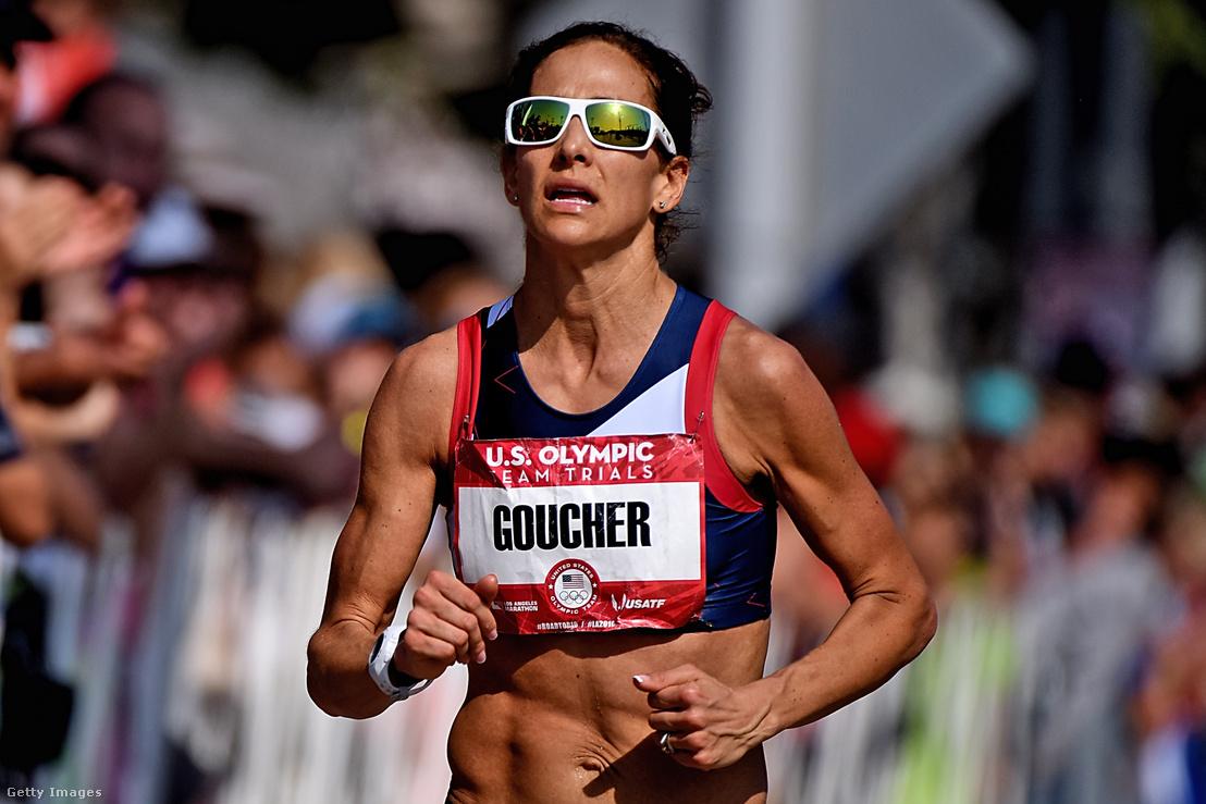 Kara Goucher fut Los Angelesben 2016. február 13-án