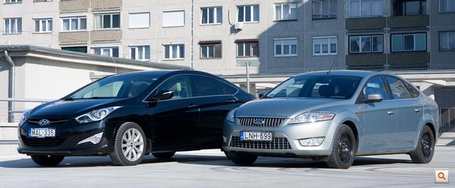 Bár az alapforma egyforma, a Hyundai részletei modernebbek