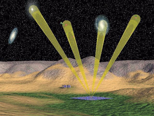 Egyszerre több csillagászati objektumot is meg lehet figyelni majd az új rádióteleszkópos rendszerrel.