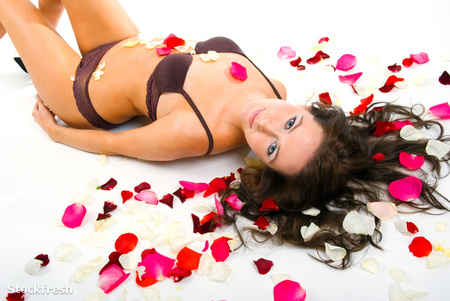 stockfresh 693845 l-sexy-girl-underwear-on-floor-among-red-rose-