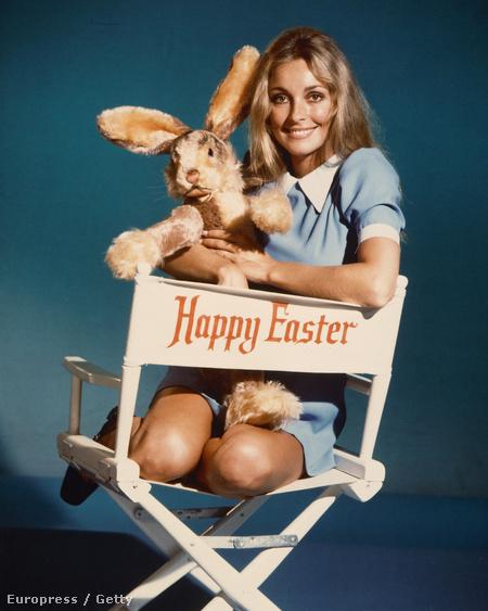 Ezen az 1965 körül készült fotón Sharon Tate látható