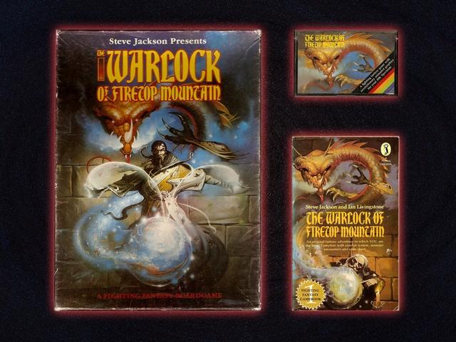 A Tűzhegy varázslója társasjáték, ZX Spectrum és játékkönyv változata