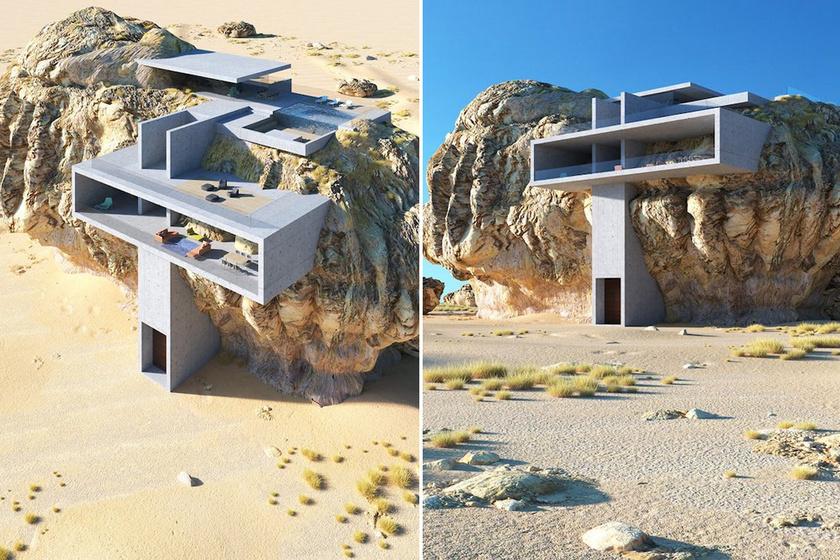 Milyen az élet egy sziklába vájt lakásban? Lenyűgöző tervrajzokat álmodott az építész