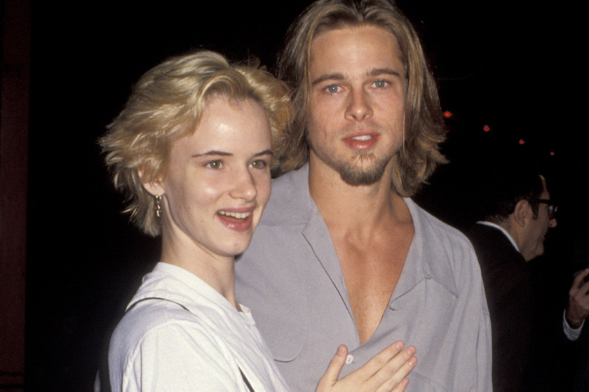 Brad Pitt 27 éves volt, amikor elkezdett randizni a 17 éves Juliette Lewis-szal. A középen elválasztott frizura és a hajszín is azt jelezte, hogy ők bizony, egy párt alkottak annak idején.