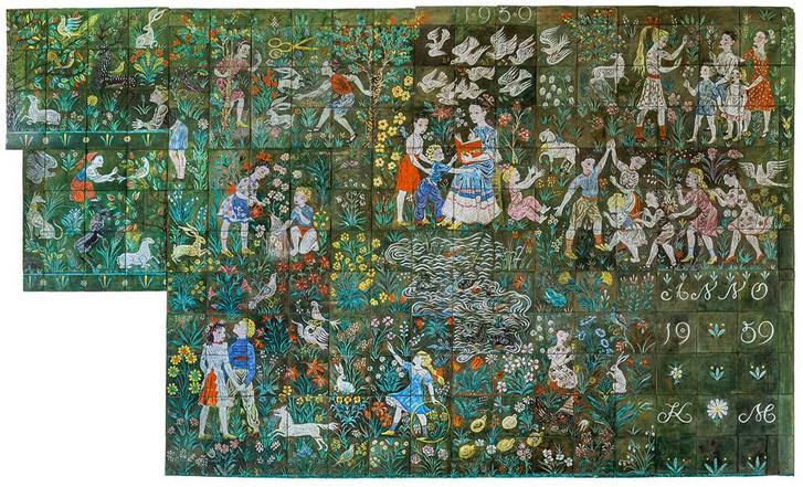 Kovács Margit Játékok című alkotása a fóti Gyermekvárosban
