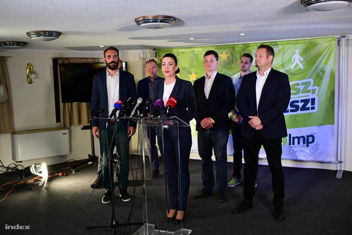 Az LMP vezetősége az EP-választás estéjén