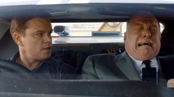 Matt Damon és Christian Bale autópornóban mennek neki a Ferrarinak